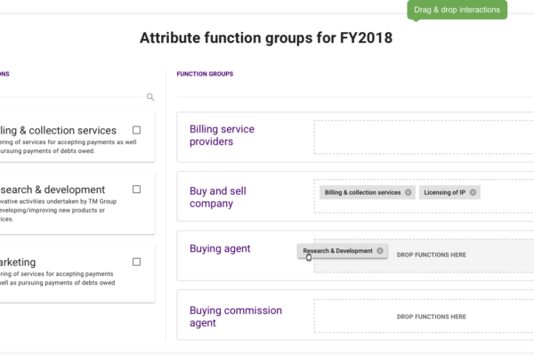 Attribute function groups